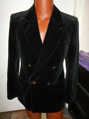 Vintage Beau Brummel Tiger of Sweden Men's Double Breasted Medium Velvet Blazer.