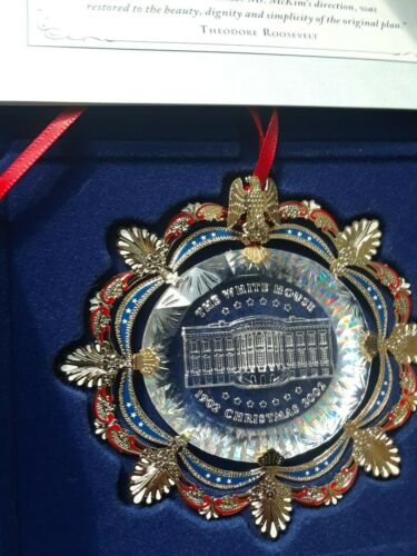 2002 White house ornament Crystal 24kt