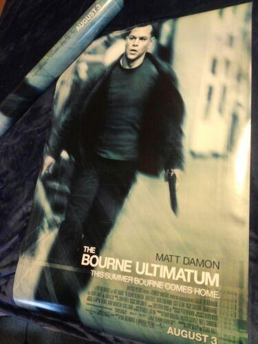 The Bourne Ultimatum D/S Original Advance Promotional Movie Theater Poster  - $13.99
