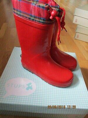Stups Mädchen Gummistiefel rot Gr. 32 sehr schön - Mädchen Stiefel Rot