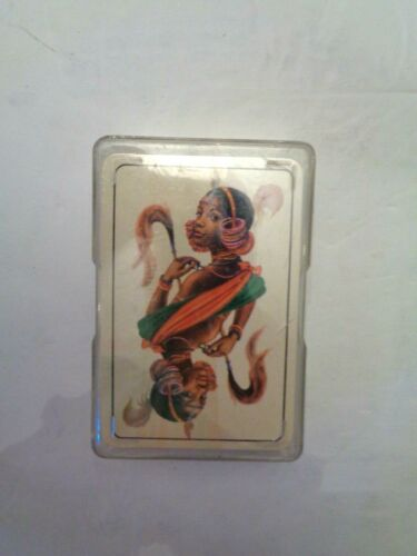 VINTAGE DECK OF PLAYING CARDS, POSSIBLY AN AFRICAN CULTURE