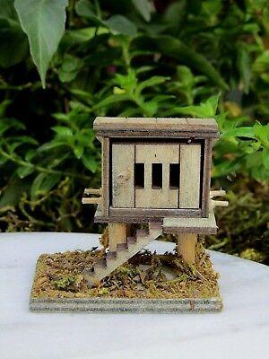Miniature Dollhouse FAIRY GARDEN Furniture ~ MICRO Mini Wood Wooden Chicken Coop