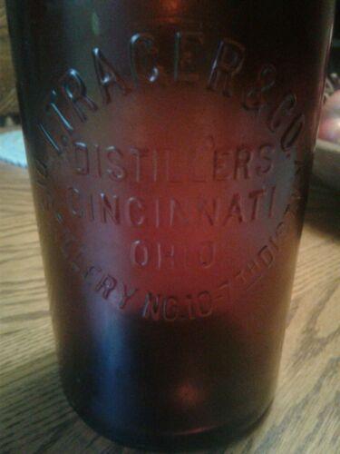 "Antique Preprohibition whiskey ~I. Trager & Co. Distillers Cincinnati Ohio~""DUG"""