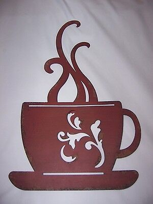 Sculptures Kitchen Wall Decor Red Metal