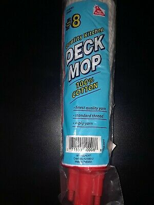 Deck Mop #8 100% Cotton, Standard Thread, 4 ply yarn, Finest Quality Yard 4 Ply Deck Mop