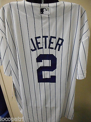 Majestic MLB Youth New York Yankees Derek Jeter Cool Base Jersey NWT $50 M