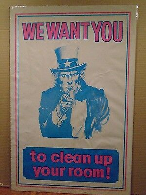 Vintage We Want you To Clean Your Room! Uncle Sam  11102