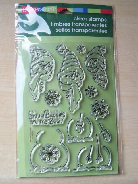 STAMPENDOUS - CLEAR STAMPS - BUILD A SNOWMAN - 17 STAMPS