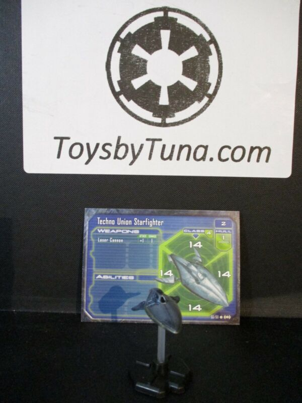 Star Wars Miniatures Starship Battles Techno Union Starfighter w/ Card mini RPG