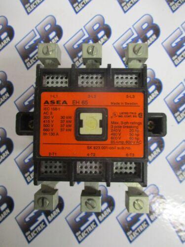 ASEA EH65, 85 AMP 600 VOLT 3 POLE CONTACTOR W/ 120 VOLT COIL