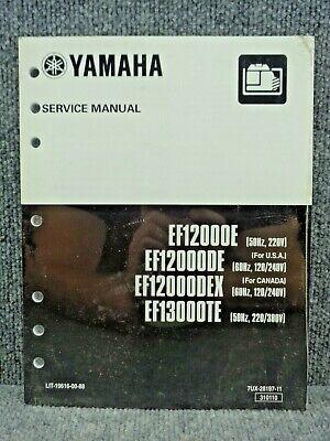 New Oem Yamaha Generator Ef12000e Ef12000de Ef12000dex Ef13000te Service Manual