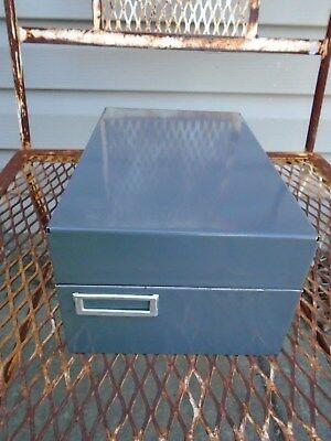 Vintage Steelmaster Metal Card File Cabinet Dividers Art Steel 935 5x4x8 Mcm