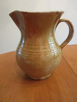"ML Owens Seagrove, NC  Salt Glazed  7""  Milk / Water Pitcher NICE!!"