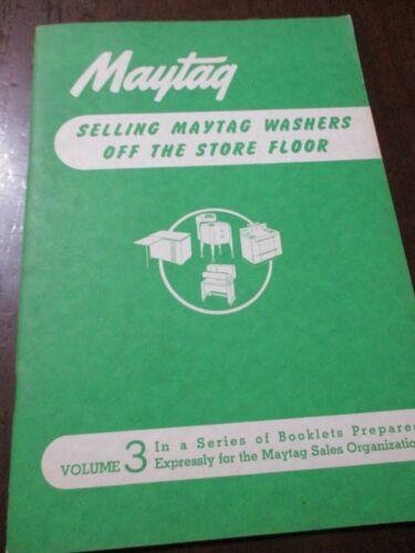 Maytag Dealer Sales Suggestions Brochures, 3 items 1947-48-49