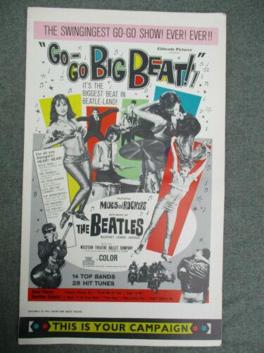 VINTAGE 1965 GO-GO BIG BEAT FILM PRESSBOOK w The BEATLES ANIMALS HOLLIES