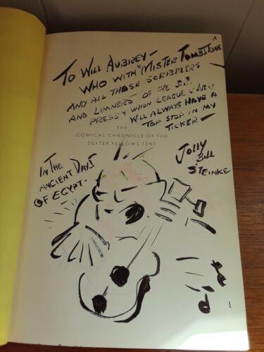 Jolly Bill Steinke Original Art Caricature Drawing Signed Circus Saints Sinners
