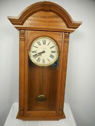 WK SESSIONS 29 TALL CHIME & PENDULUM WALL CLOCK 1991 - GORGEOUS & ALL WORKING !