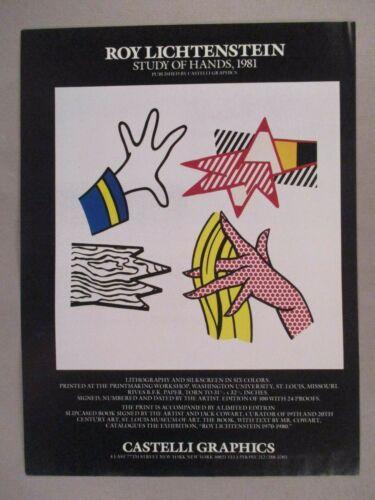 Roy Lichtenstein Lithograph PRINT AD - 1981