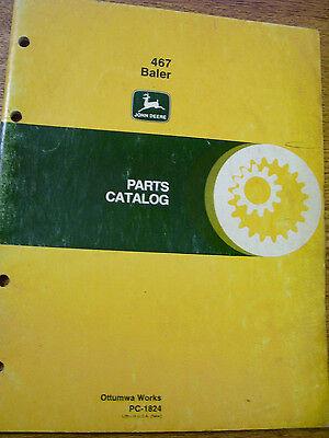 Vintage John Deere Parts Manual - 467 Hay Baler - 1981