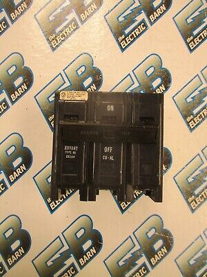 Bryant Br3100 3 Pole 100 Amp 240 Volt Plug In Circuit Breaker- Warranty