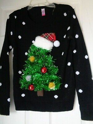Girls Ugly Sweater (Girls Ugly Christmas Sweater 7-9 No)