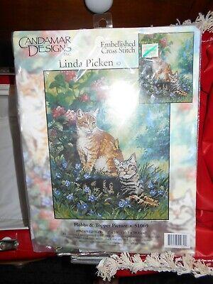 1999 Tiger Cats Embellished Cross Stitch Kit