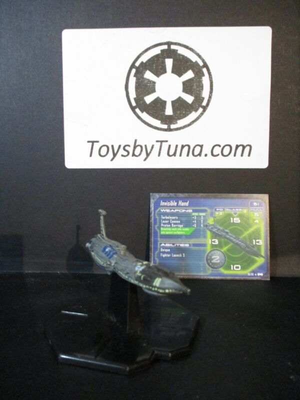 Star Wars Miniatures Starship Battles Invisible Hand Grievous w/ Card mini RPG