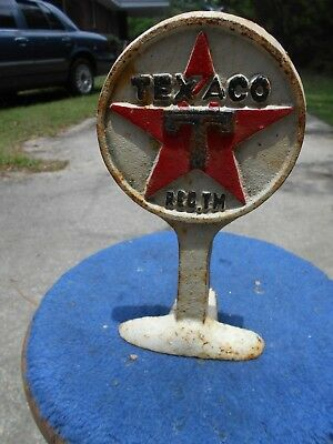 Vintage COLLECTIBLE TEXACO METAL GASOLINE ADVERTISING DOOR STOP