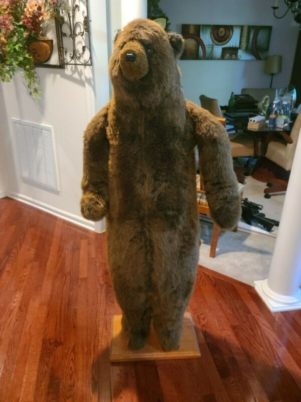 """A Hen House 58"""" Brown Standing Bear -- Great Condition, No Wear/Damage"""