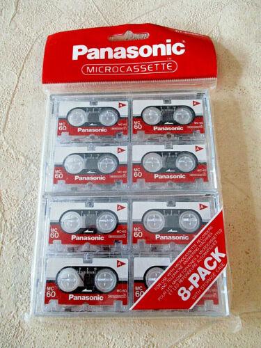 Panasonic Microcassette - MC60 - Blank Tapes - RT-608MC - 8-PACK [Sealed-NOS]