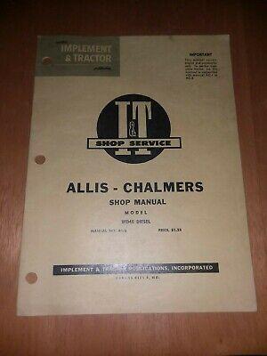 It Allis Chalmers Wd45 Diesel Shop Service Repair Manual Wd 45 I T