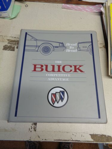 1989 Buick Large Dealer Binder Head to Head Comparison 89 Riviera Reatta LeSabre