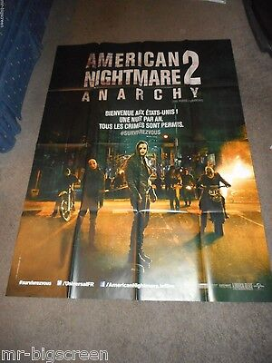 THE PURGE: ANARCHY - ORIGINAL LARGE FOLDED FRENCH POSTER