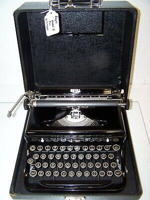 Antique 1937 Royal Model O Vintage Typewriter #O-714869