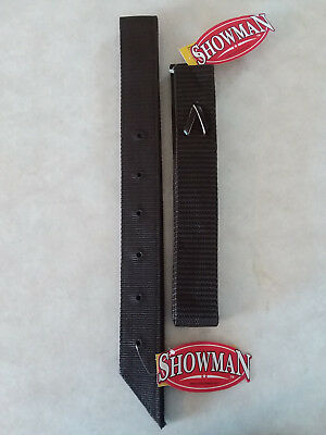 (Brown Nylon Off Side Billet Latigo & Tie Strap For Western Saddle Girth Cinch)