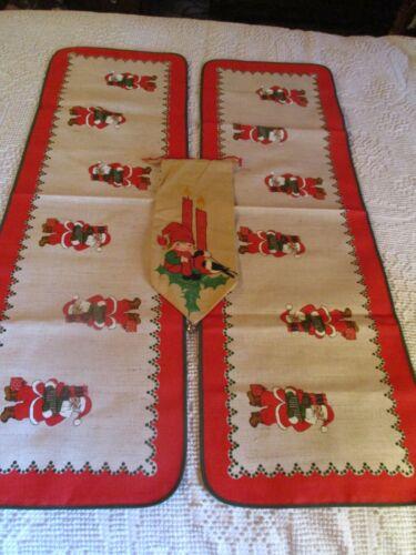 Vintage Lot 3 Swedish Christmas Table Runner Door Runner