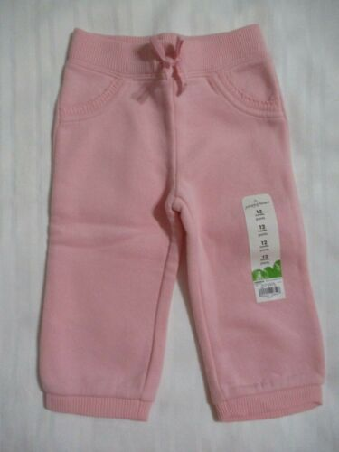 NEW BABY GIRLS 12 MONTHS JUMPING BEANS SWEAT PANTS BOTTOMS PINK SWEATPANTS