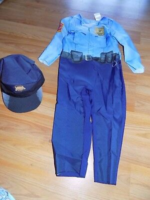 Police Costume Toddler (Toddler Size 2-3T Police Officer Cop Halloween Costume Jumpsuit & Hat New)