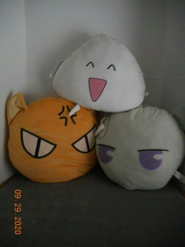 "Fruits Basket - 3 piece set - 17"" Pillows - Kyo, Yuki and Rice Ball - Rare"