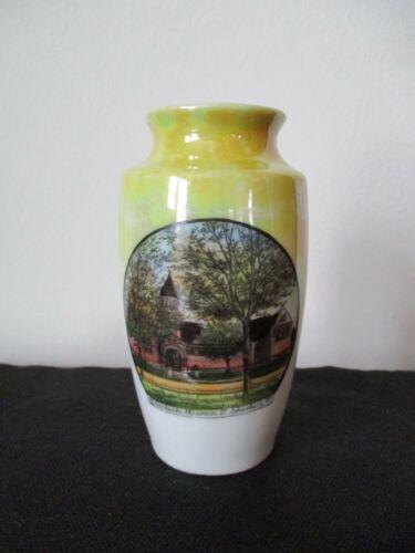 Circa 1915 Souvenir Porcelain Vase Fairbanks Museum St. Saint Johnsbury Vermont