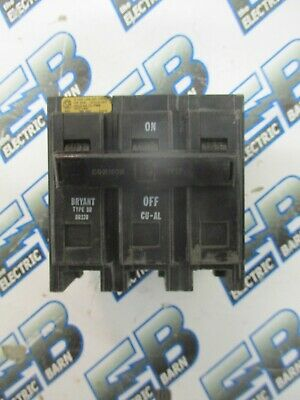 Bryant Br370 70 Amp 3 Pole 240 Volt Circuit Breaker- Warranty