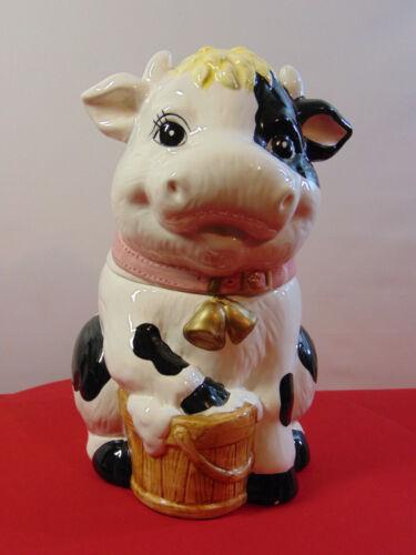 VINTAGE HAPPY COW  COOKIE JAR