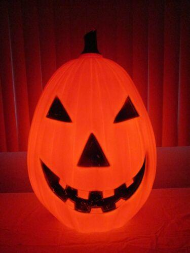 "Vintage ENORMOUS Jack-O-Lantern Pumpkin Lighted Halloween Blow Mold Decor 28"""