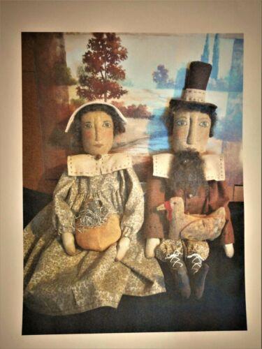 PATTERN, Primitive dolls,fall Pilgrims,original, by Dumplinragamuffin,#276