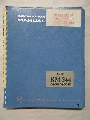 Tektronix Type Rm 544 Oscilloscope Instruction Service Manual 070-422