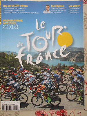 VELO : LE TOUR DE FRANCE : PROGRAMME OFFICIEL : 2018