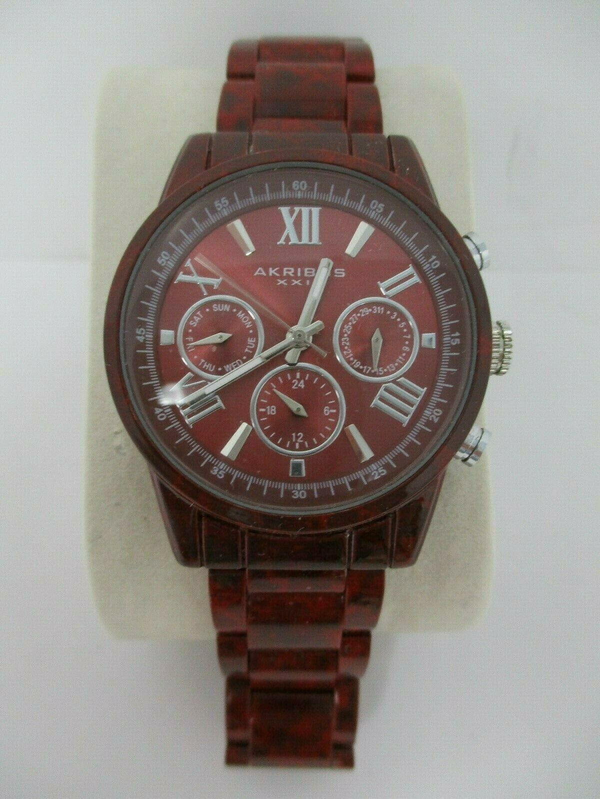 Akribos XXIV Womens Burgundy Watch