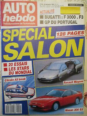 AUTO HEBDO: n°644: 28/09/1988: SPECIAL SALON - BMW 325is - CITROEN AX - 200 SX