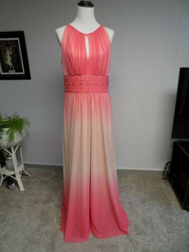 NWT Jessica Howard Peaches Beaded Bridesmaid Dress Gown Formal  SZ 12