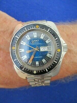 Vintage Camy Sevenseas Automatic Divers watch Monnin case. ETA 2789-1 Movement.